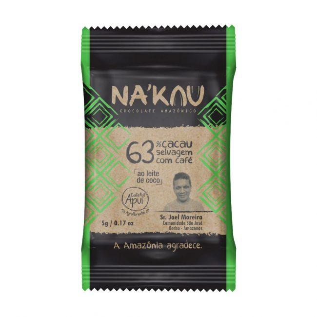 Na'kau 63% cacau com Café Apuí - 5g